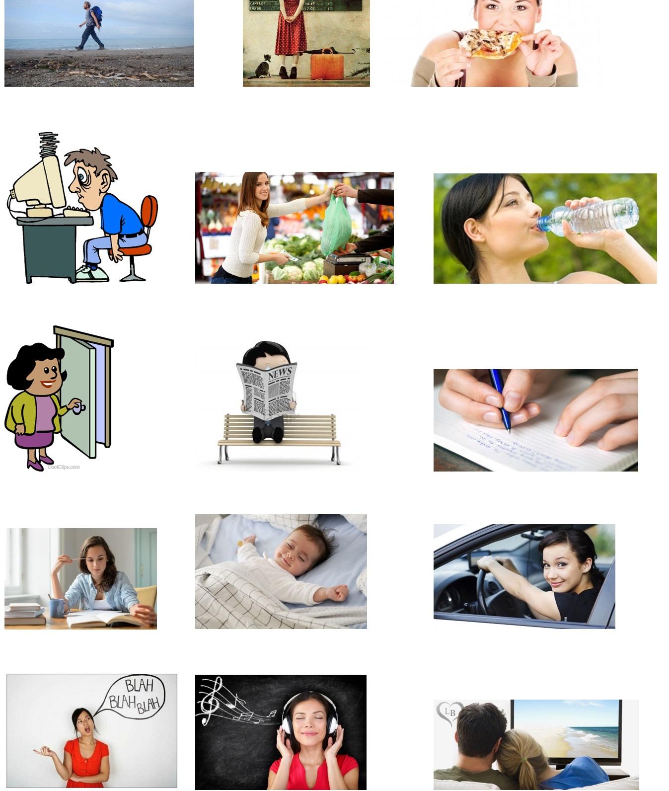 collega i verbi alle immagini
